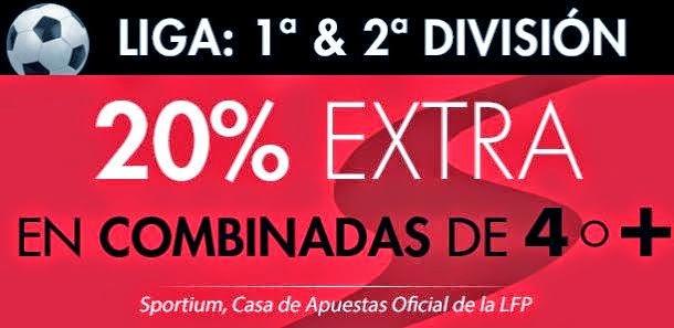 20% extra combinadas Sportium