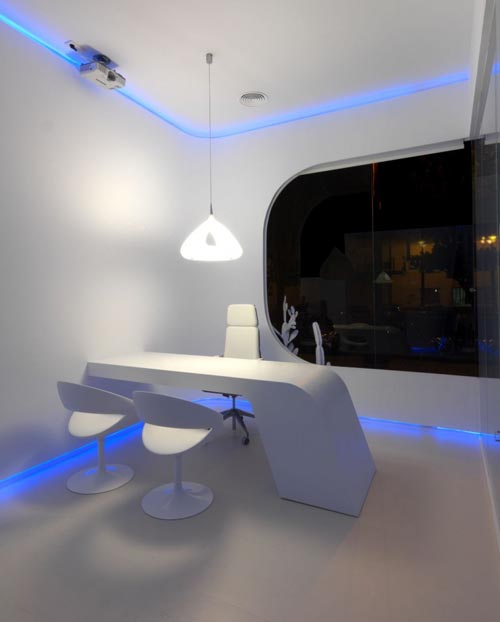 'Hidrosalud' elegant office lighting fixtures design