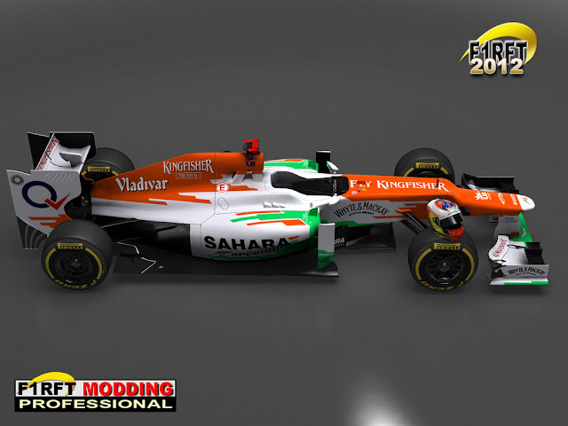 Force Indian rFactor RFT 2012 F1