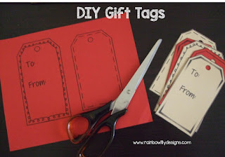 DIY Gift Tags www.rainbowlilydesigns.com