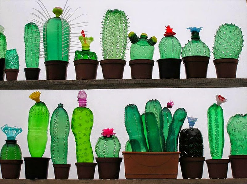 Œuvres d'art avec des Bouteilles PET Recyclées