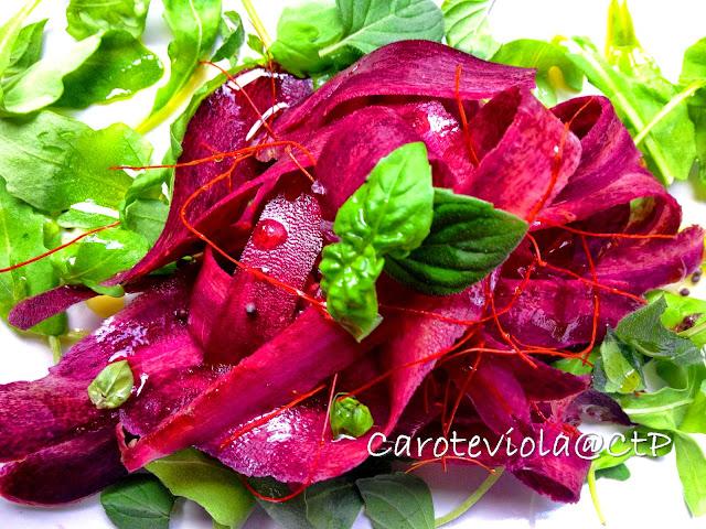 freschezza e colore : carote viola