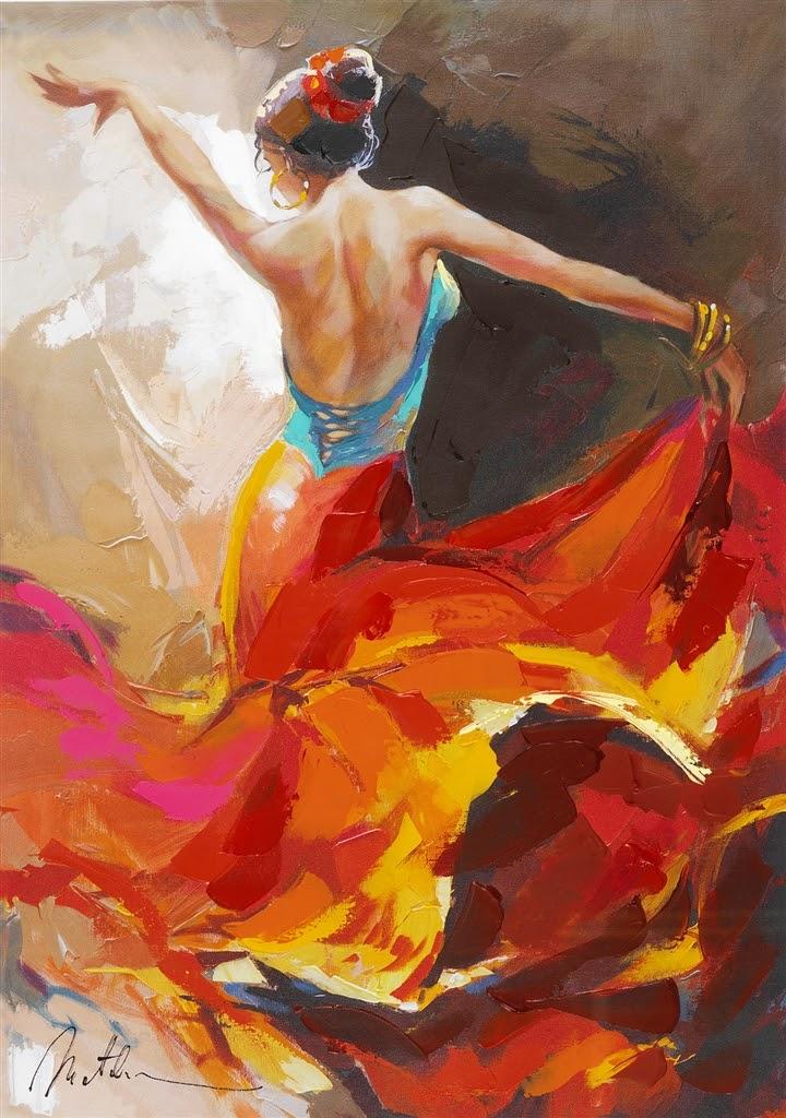 Anatoly Metlan Flamenco dancer
