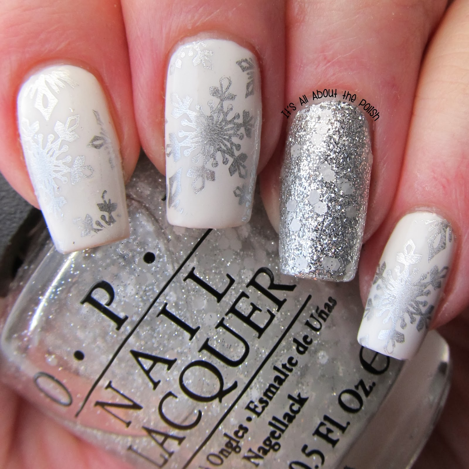 Its All About The Polish Aussie Nails Monday Snow Snowflakes