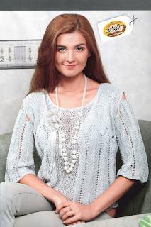 http://www.vyazemsami.ru// Жакет с ажурными полосами