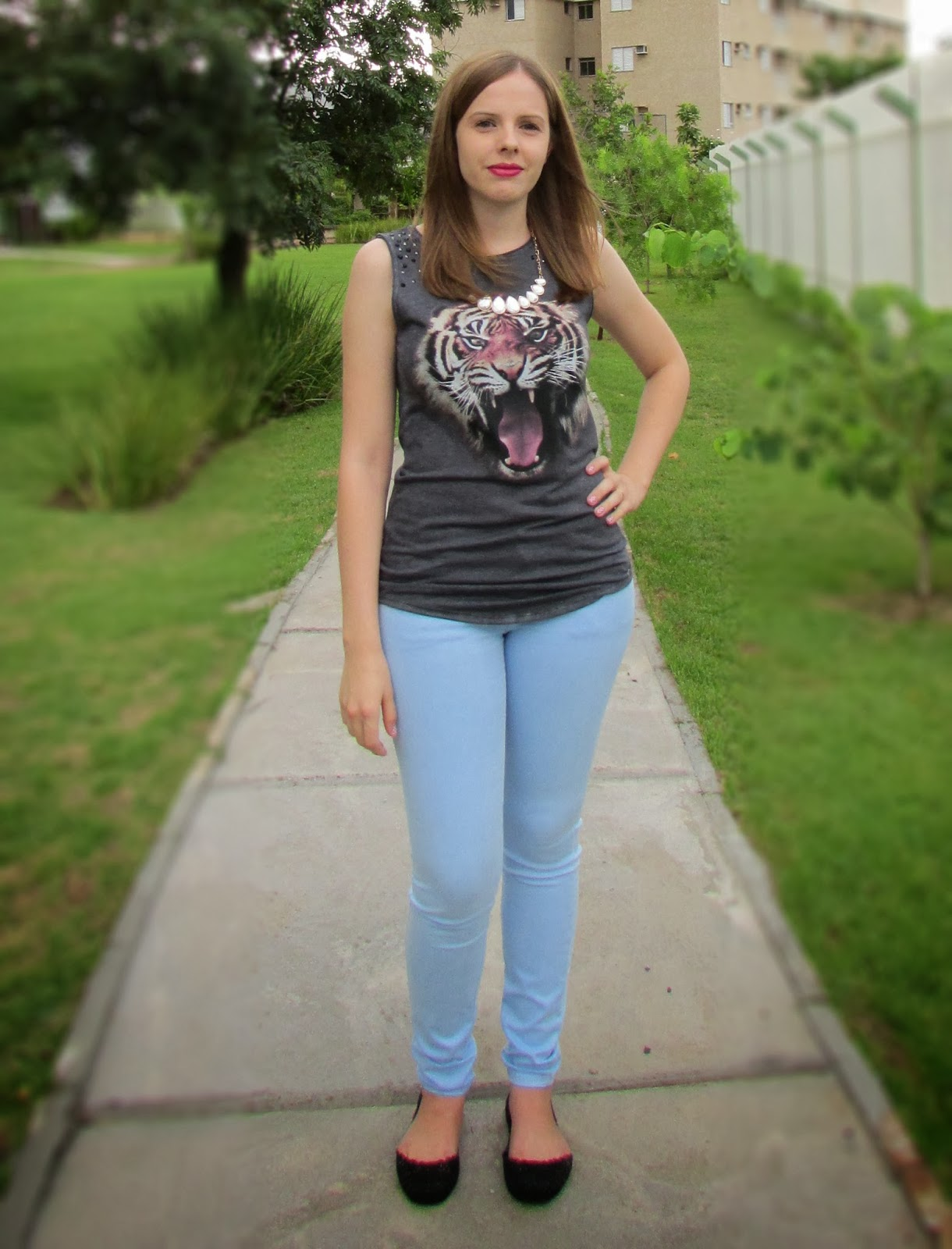 Look do dia, Blusa de tigre