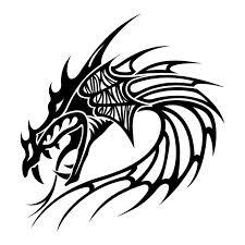 Motif Tato Naga Hitam Putih 2