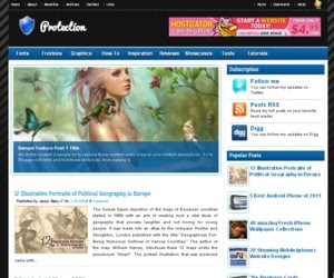 Protection Blogger Template