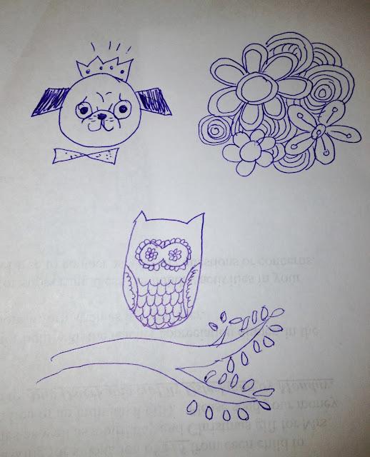 Craft-a-doodle, owl doodle, pug doodle, doodling