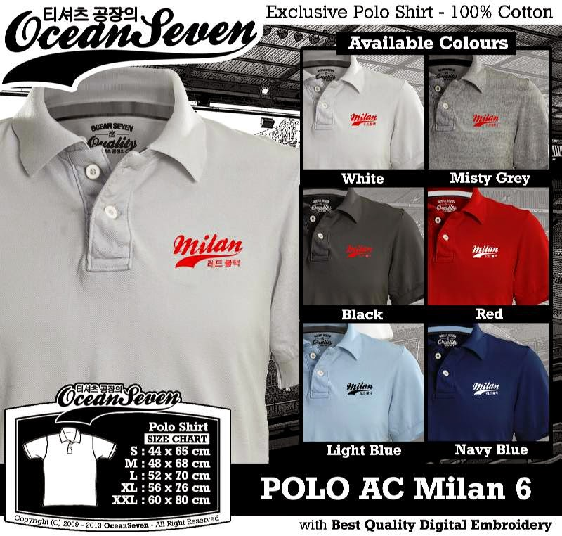 Kaos Polo AC Milan 6