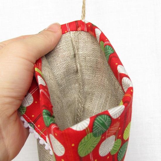 носок для подарков, швы