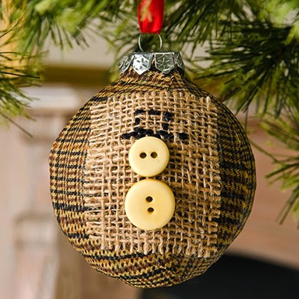 How To Make Button Snowman Ornament