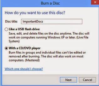 Cara Burning File Dokumen, mp3, video ke CD/DVD Tanpa Software