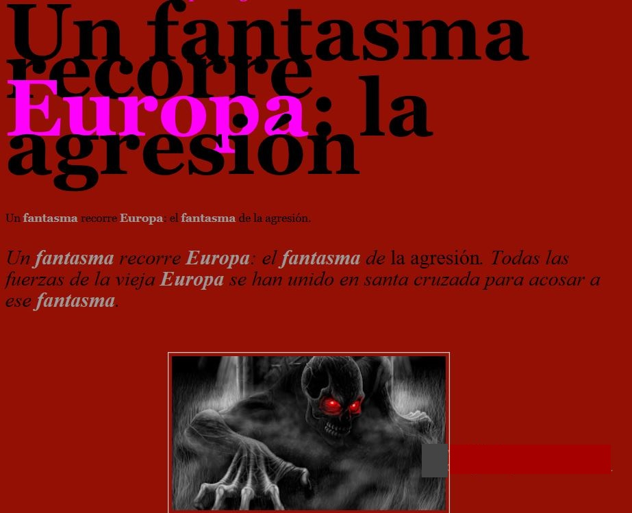 Un fantasma recorre Europa: el fantasma de la agresión
