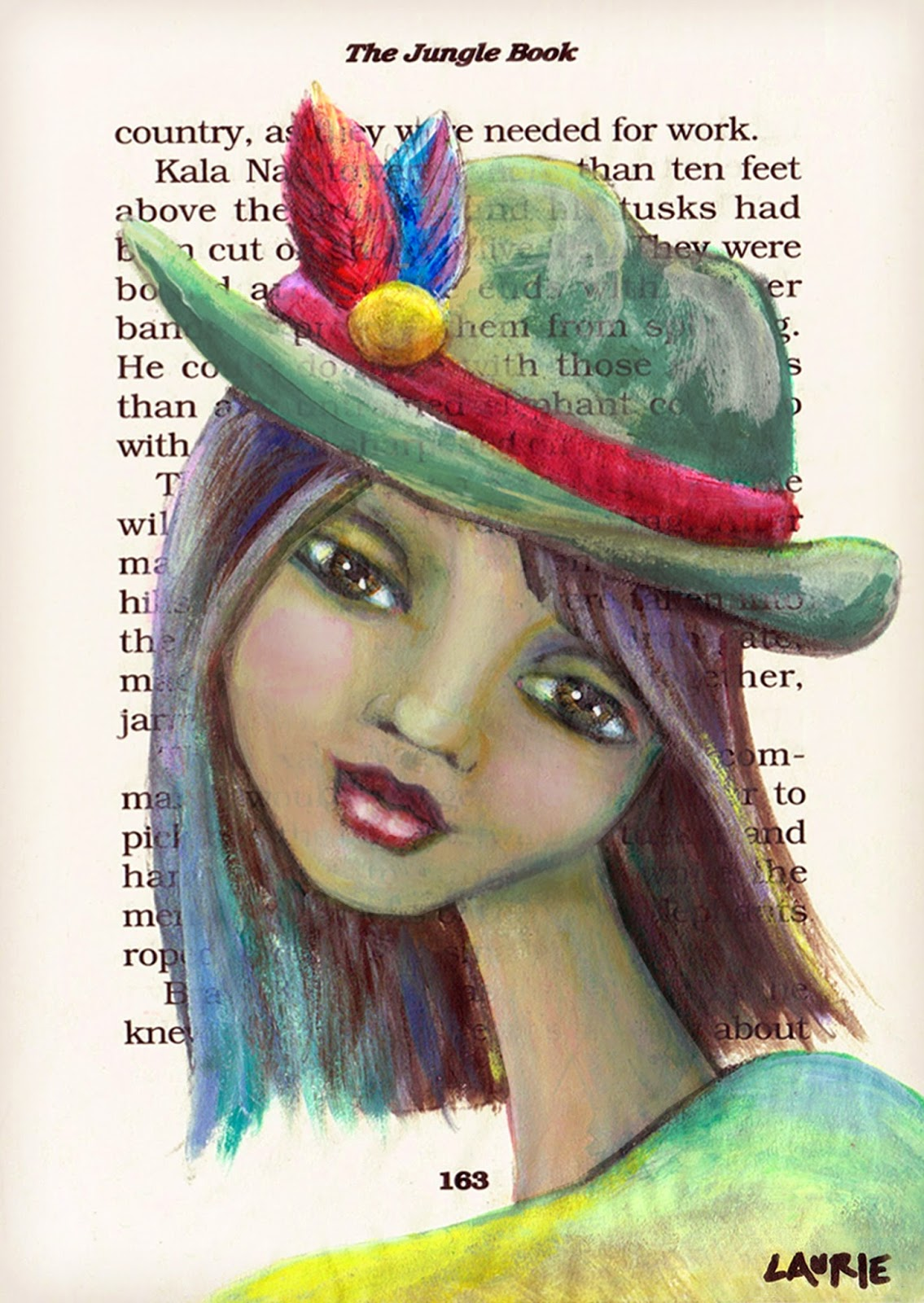 Whimsical Indian Girl Art