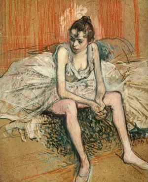 Danseuse assise, Toulouse-Lautrec