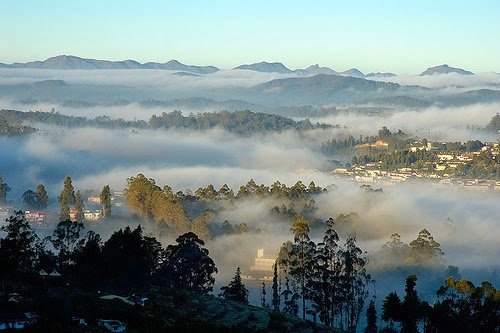The Cloud Formation during Sunrise, Ooty