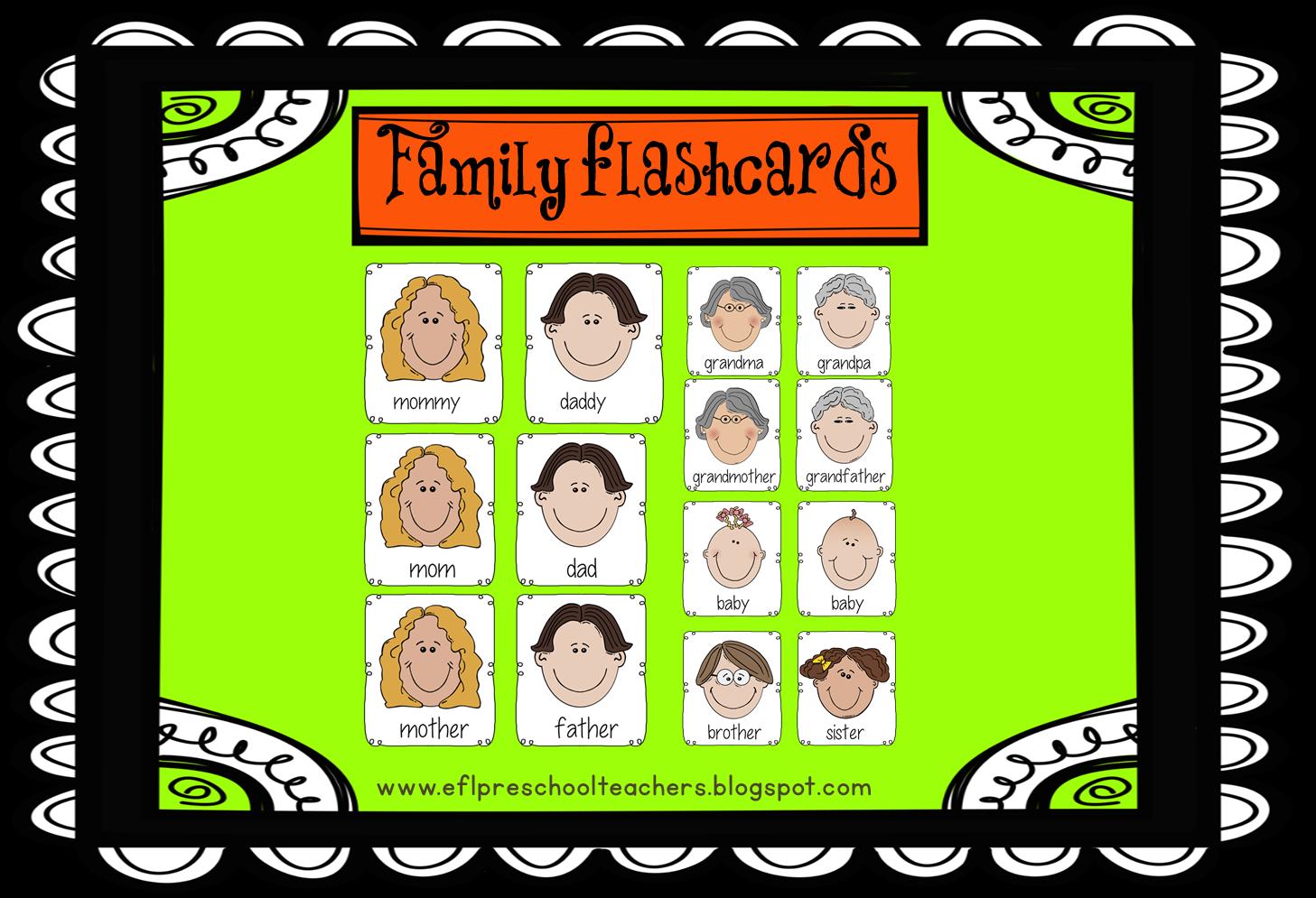 ESL/EFL Preschool Teachers: Family Theme for ELL