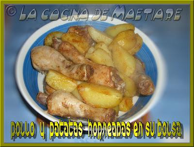 Pollo y patatas horneadas en su bolsa POLLO+Y+PATATAS+HORNEADAS+EN+SU+BOLSA