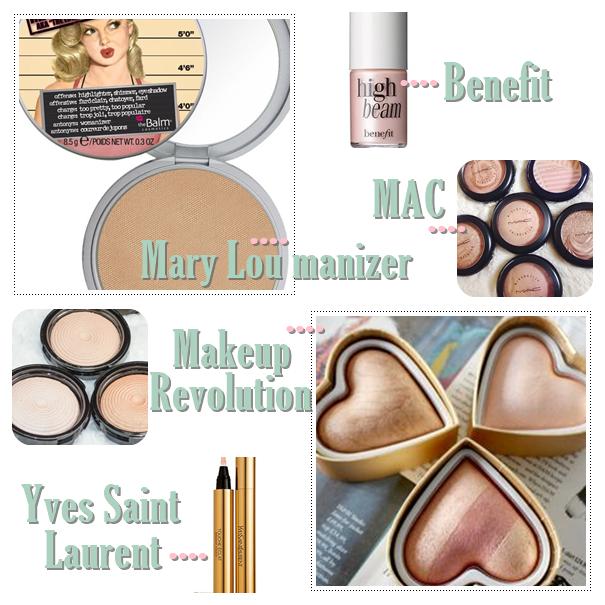 rozswietlacze, makijaż, rozswietlanie, punkty swietlne, glow, glamour, makeup, mary lou manizer, makeup revolution, mac, ysl, benefit, larte, blog