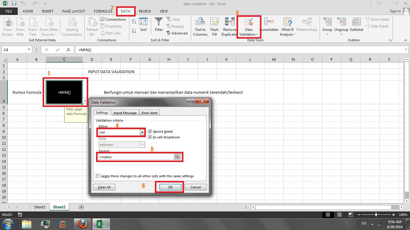 langkah data validasi