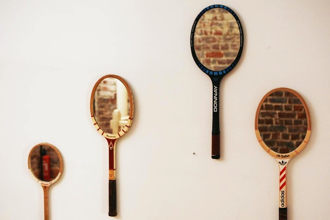 Sunday morning raquettes de tennis miroir for Decouper un miroir