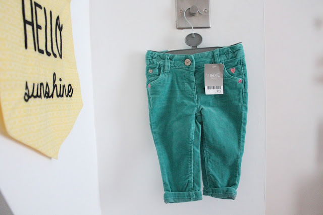 turquoise baby girl jeans from next