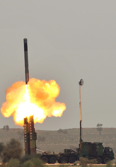 BrahMos missile launch