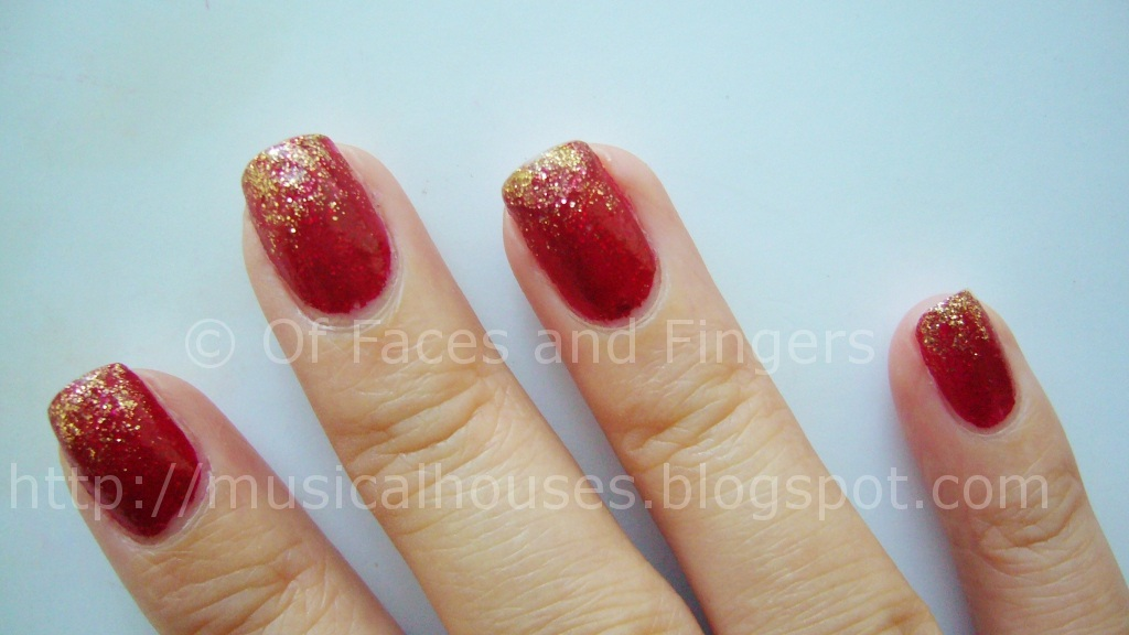 Chinese Lunar New Year Nails Using Color Club X\'mas! - of Faces and ...