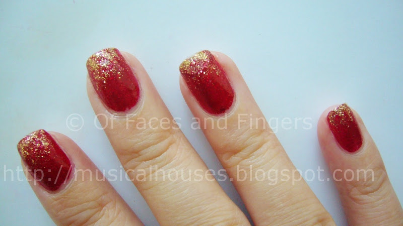 Chinese lunar New Year nails