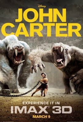 John Carter of Mars (2012) movie poster pelicula
