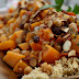 <b>Butternut Squash Stew w/ Chickpeas, Raisins, & Almonds over Whole Wheat Couscous</b> {12 Weeks of Winter Squash}