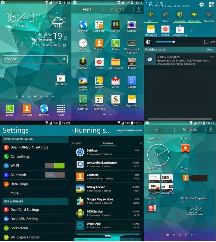 Membuat Smartfren Andromax C Menjadi Galaxy S5 | Ternyata Mudah