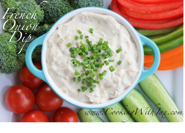 French Onion Dip by cookingwithjax.com