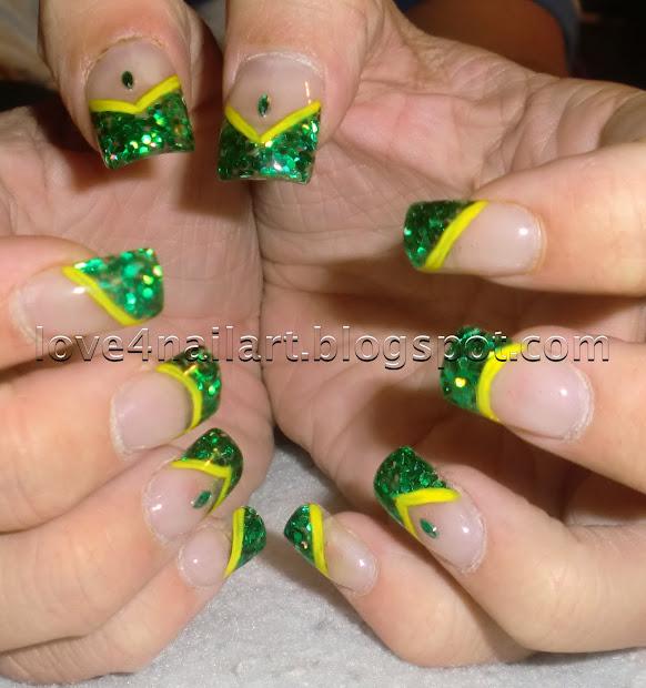 love4nailart green bay packers