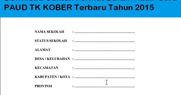 Download Contoh Format Daftar Hadir Guru Paud Tk Kober
