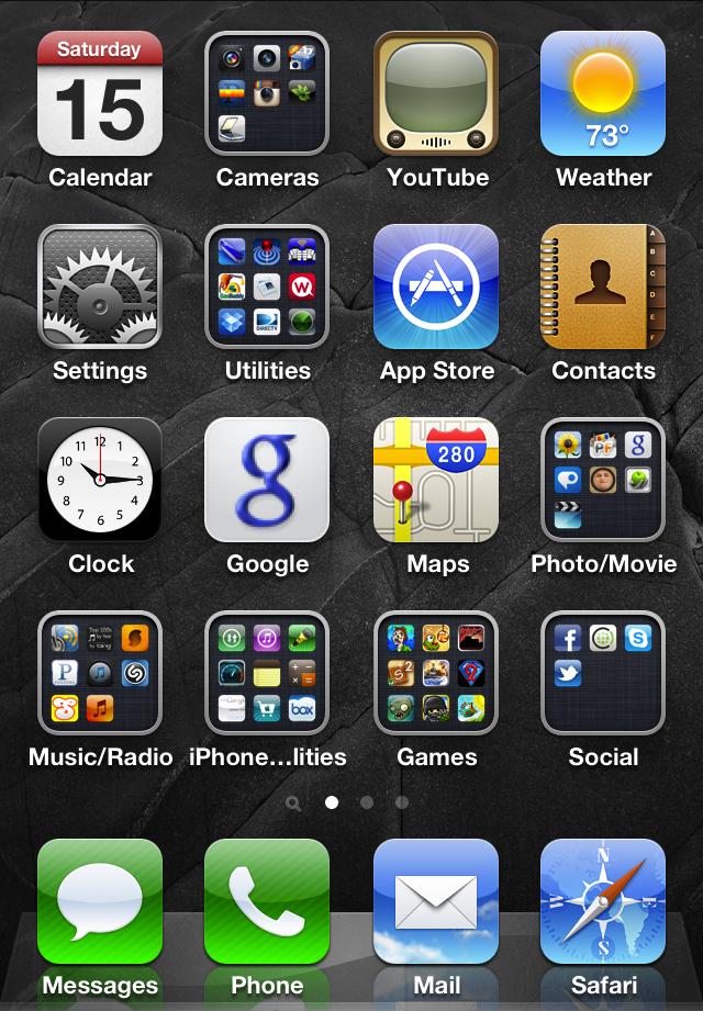 my favorite app: basic organization