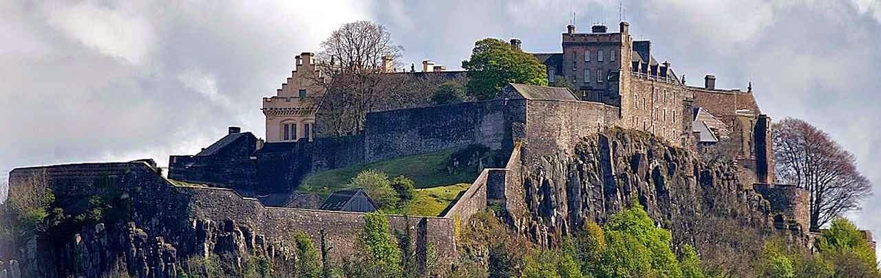 O castelo de Stirling: uma posição quase inacessível, símbolo da altaneria escocesa