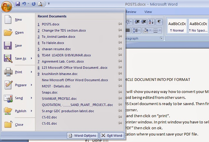 mirror online how to convert your ms word document into With pdf document mirror