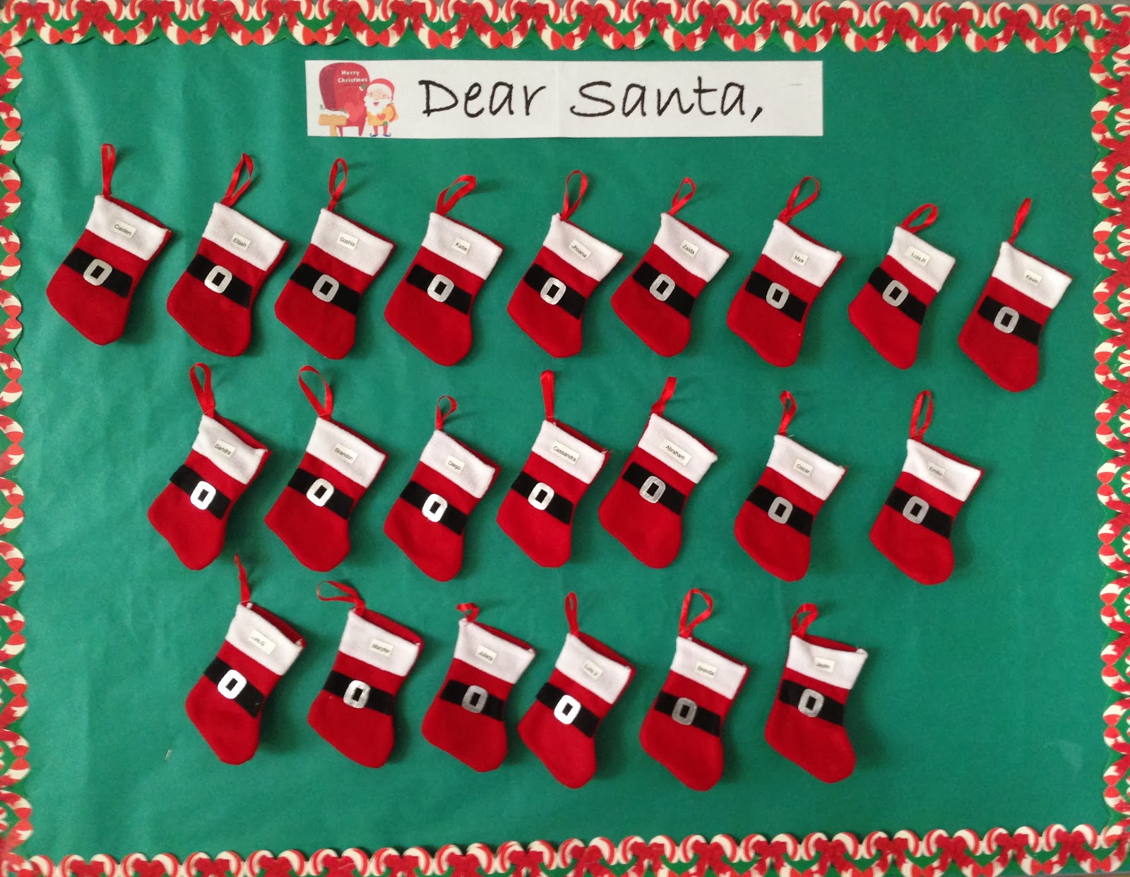 Classroom Christmas Stockings