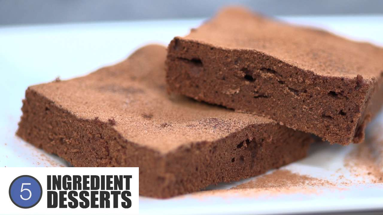 the one pot chef show easy chocolate brownies 5 ingredient desserts
