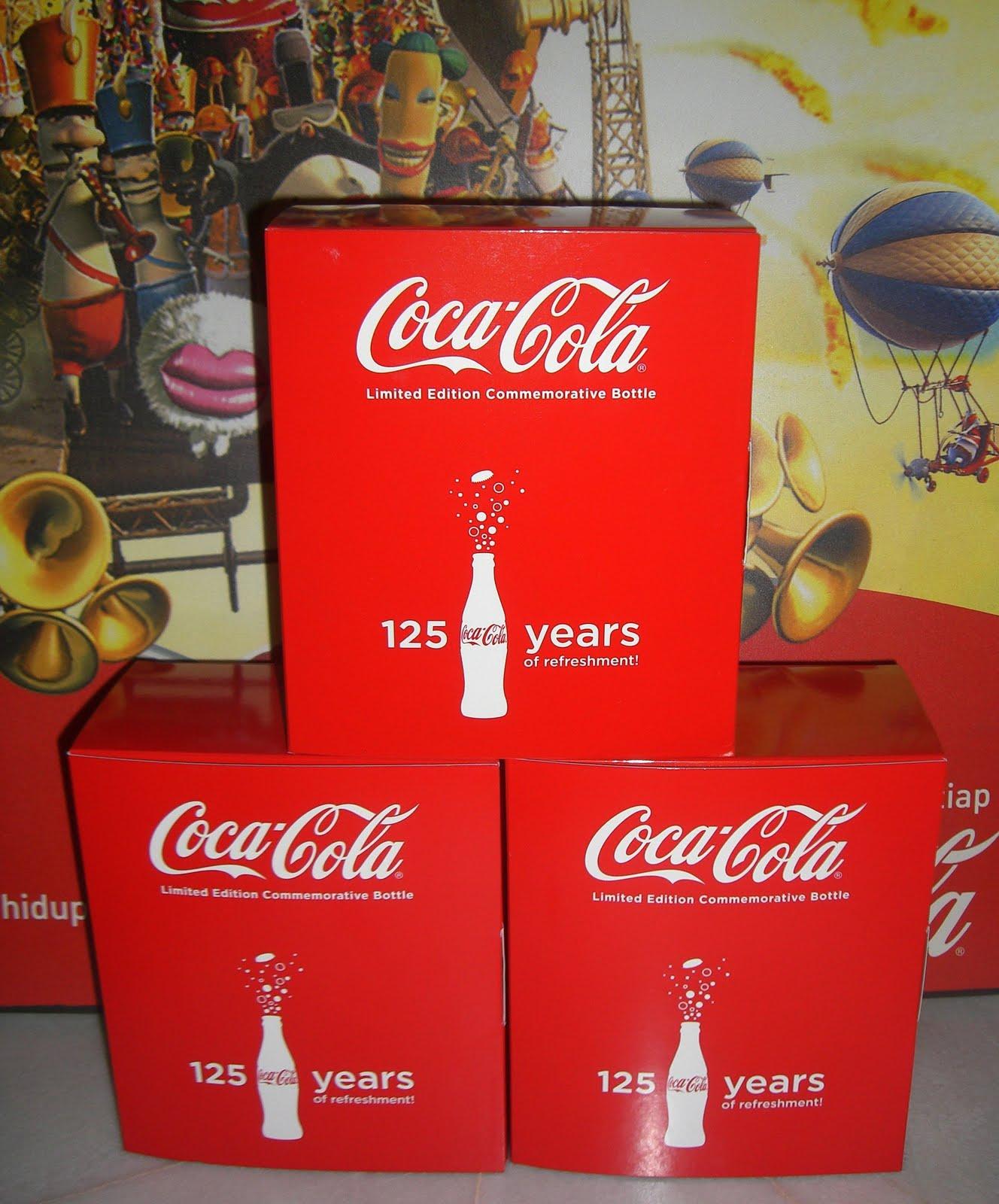 Aluminum Bottle Collector Club Coca Cola 125th Ans Buka Semangat