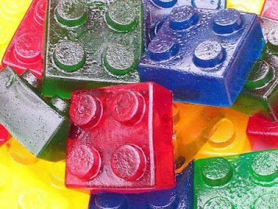 receita de gelatina lego para o dia das crianças