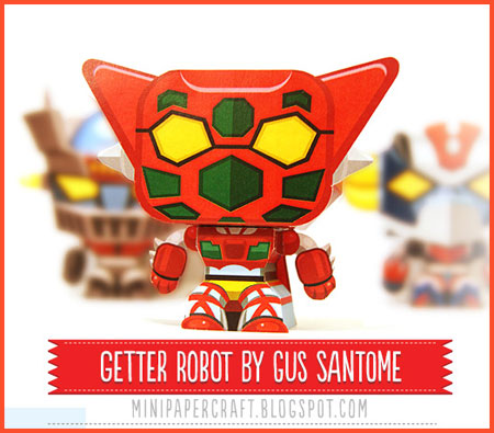 Mini Getter Robo Papercraft