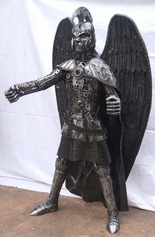 1a-Fantasy-Sculpture-Archangel-Michael-Giganten-Aus-Stahl