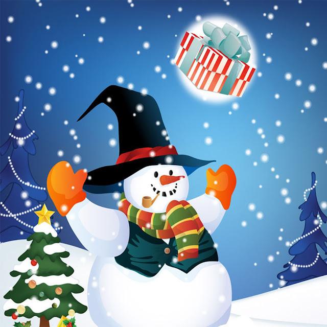 Christmas snowman iPad wallpaper