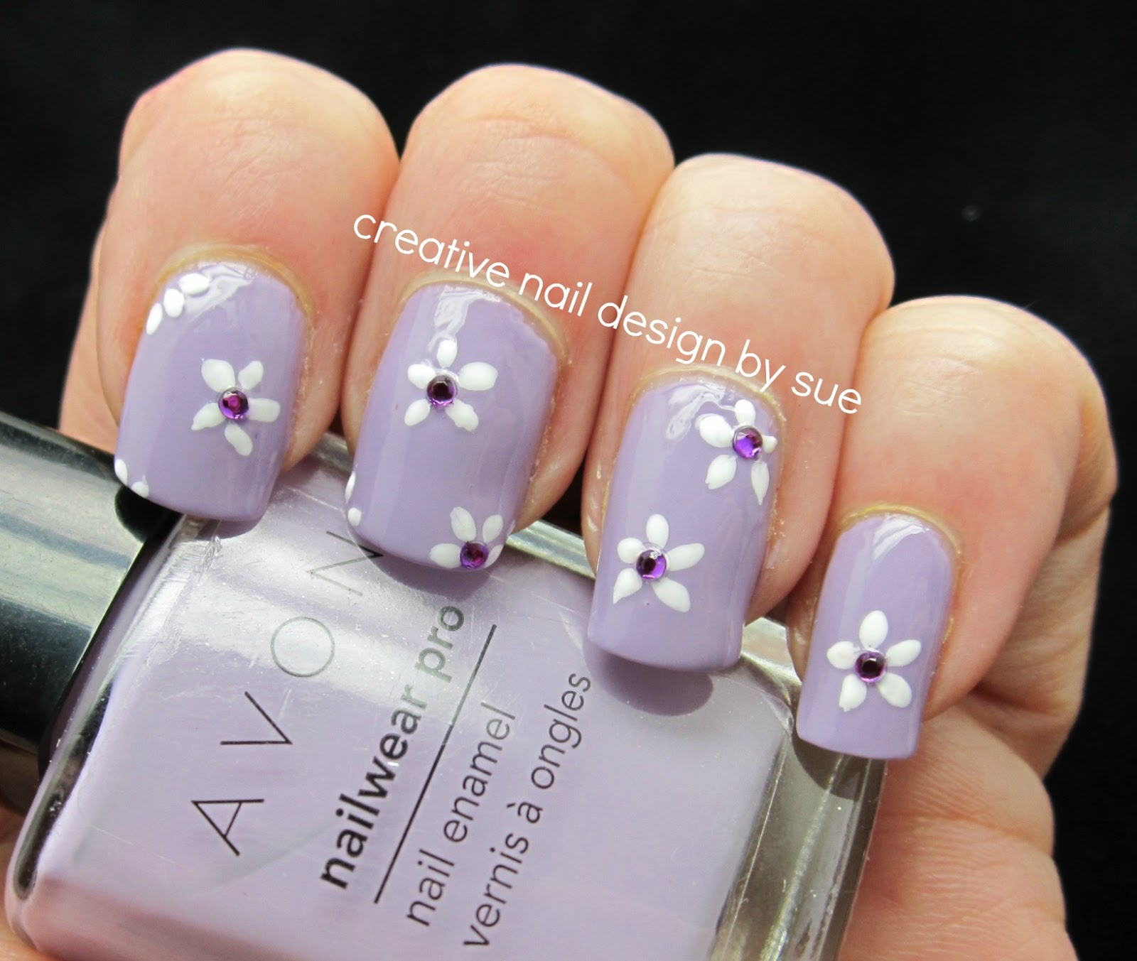 Creative nail design by sue avon luxe lavender for Avon nail decoration tool