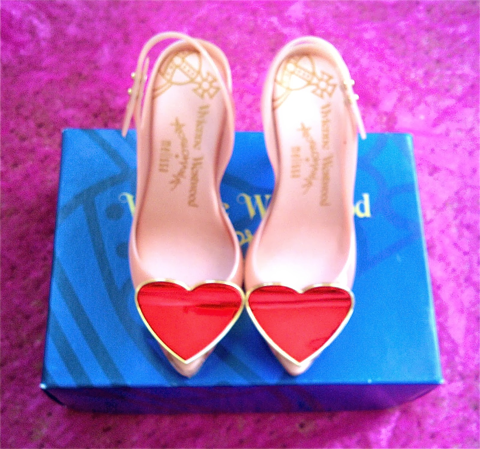 Vivienne Westwood for Melissa - Lychee/Red Heart Shoes (My New Love)