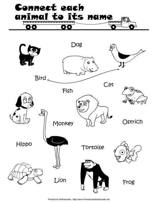 preschool worksheets learning english.