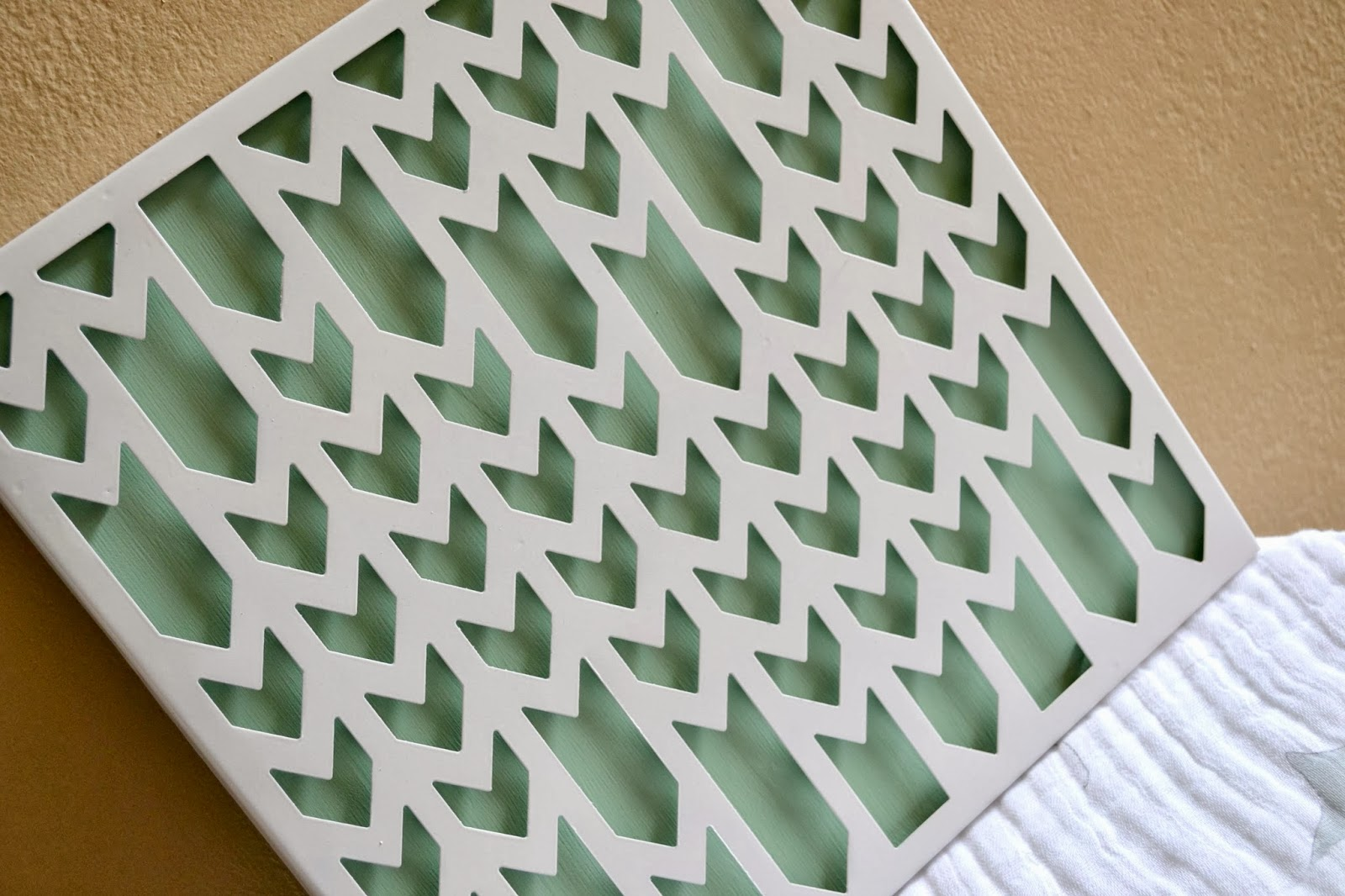 Mommy Testers DIY Chevron wall art from Target